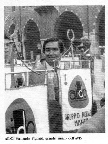 Fernando Pignatti, grande amico dell'AVIS